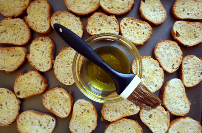 bruschetta bread oil