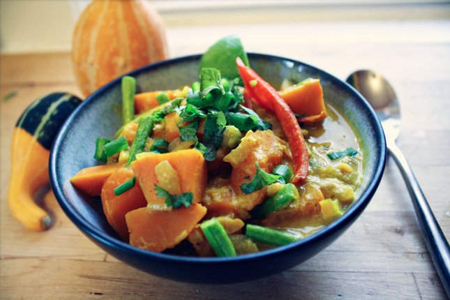 Thai Green Curry with Red Kuri Squash