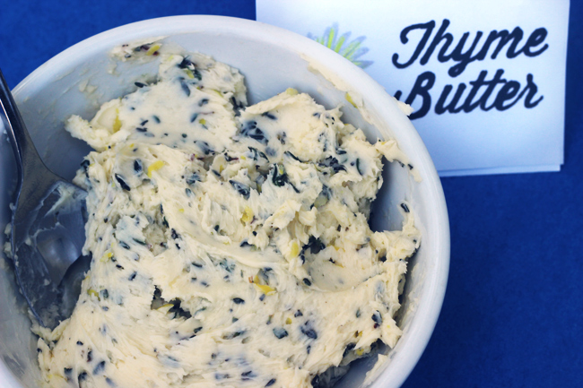 thyme butter corn topping