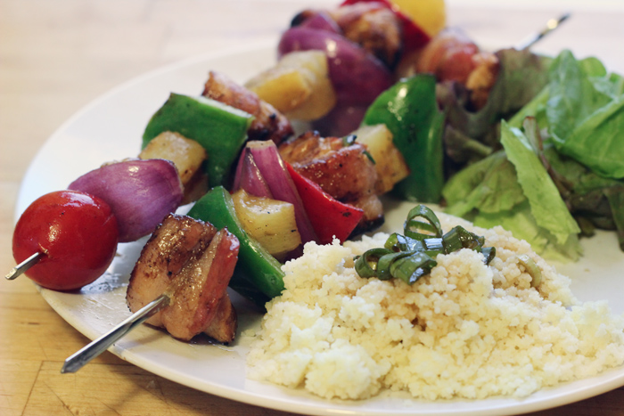 Bacon-Wrapped Chicken Shish-Kabobs