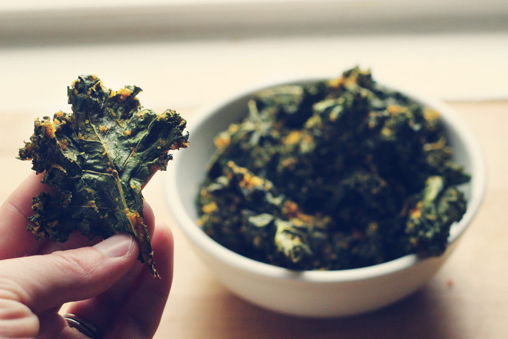 Coconut Curry Kale Chips