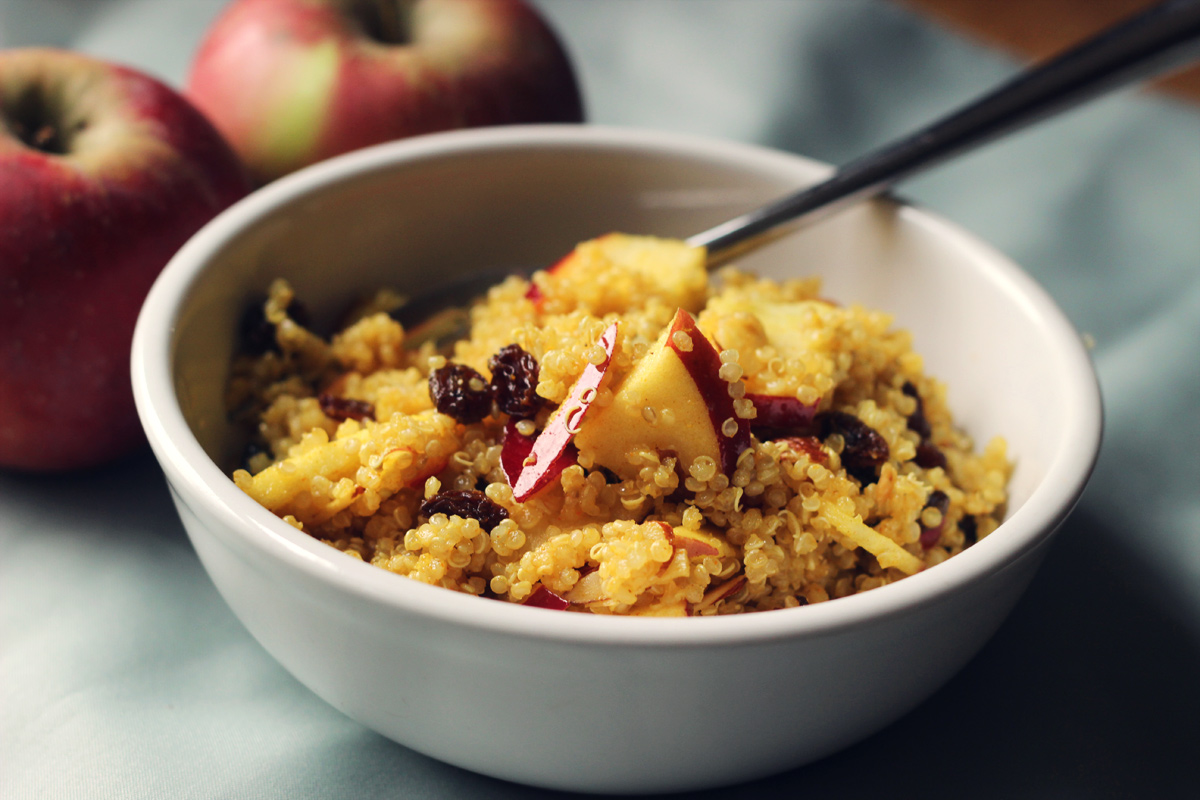 Curry Apple Quinoa Salad