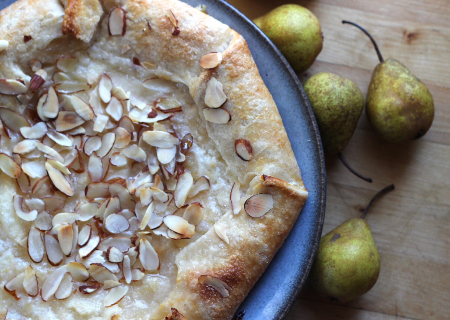 Rustic Pear Tart with Goat Cheese & Brown Butter Crust
