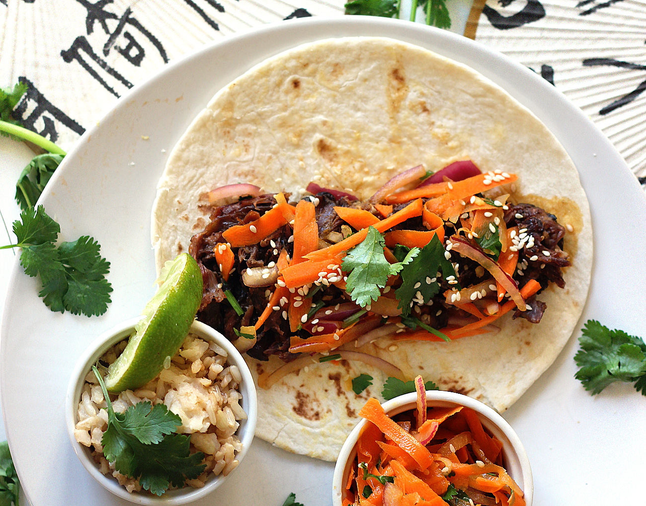 Crockpot Korean Short Rib Tacos
