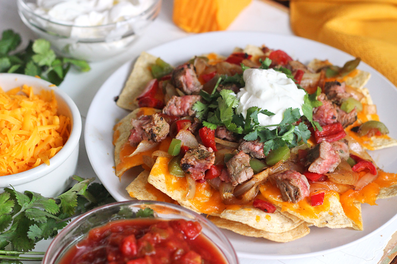 Steak Fajita Super Bowl Nachos