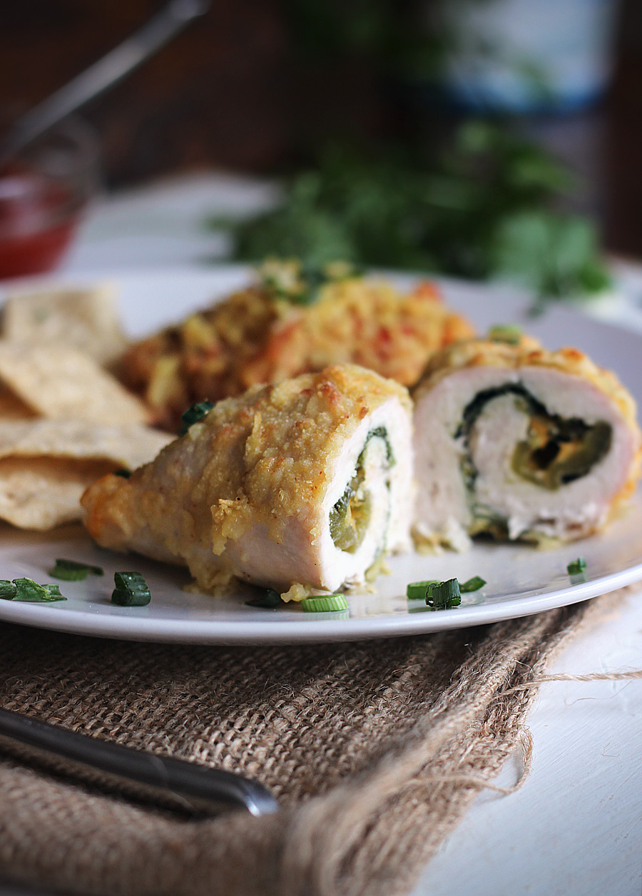 Baked Chicken Chiles Rellenos