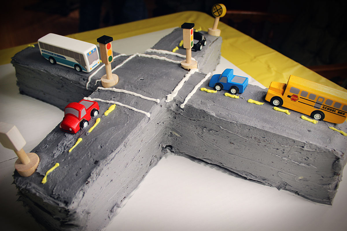 On the Road Birthday Cake