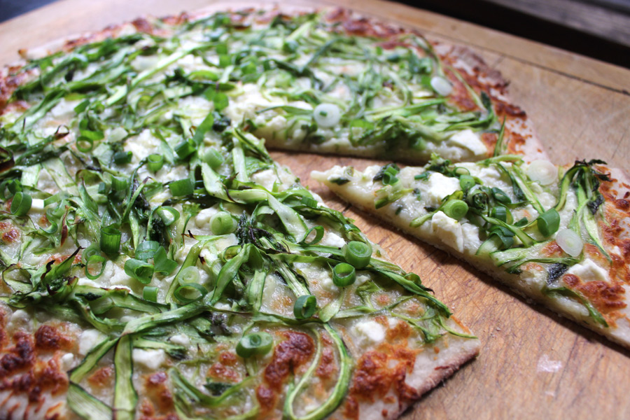 shaved asparagus pizza shaved asparagus pizza on the shaved asparagus ...