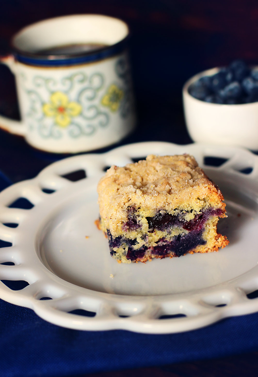 Blueberry-Cornmeal-Butter-Cake