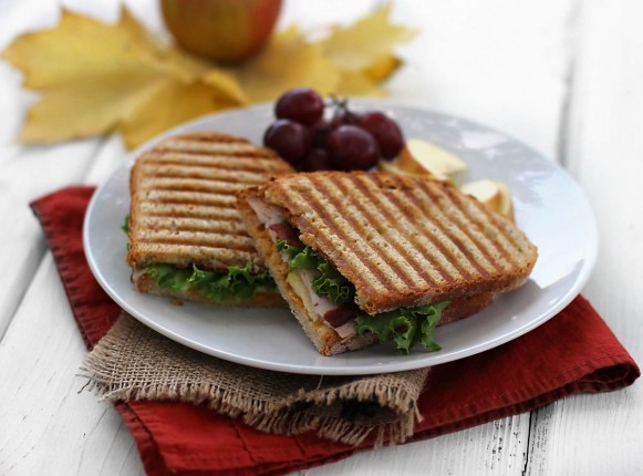 Turkey Apple Bacon Panini