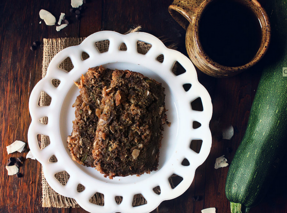 chocolate zucchini coconut bread