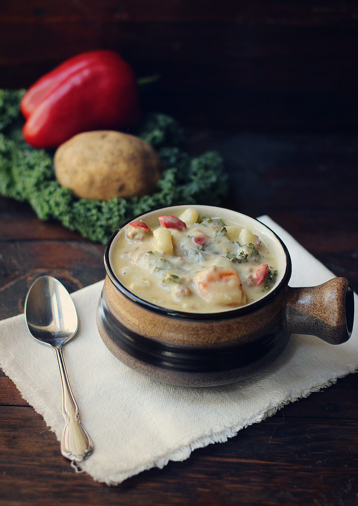 Creamy Potato, Sausage, and Vegetable Soup