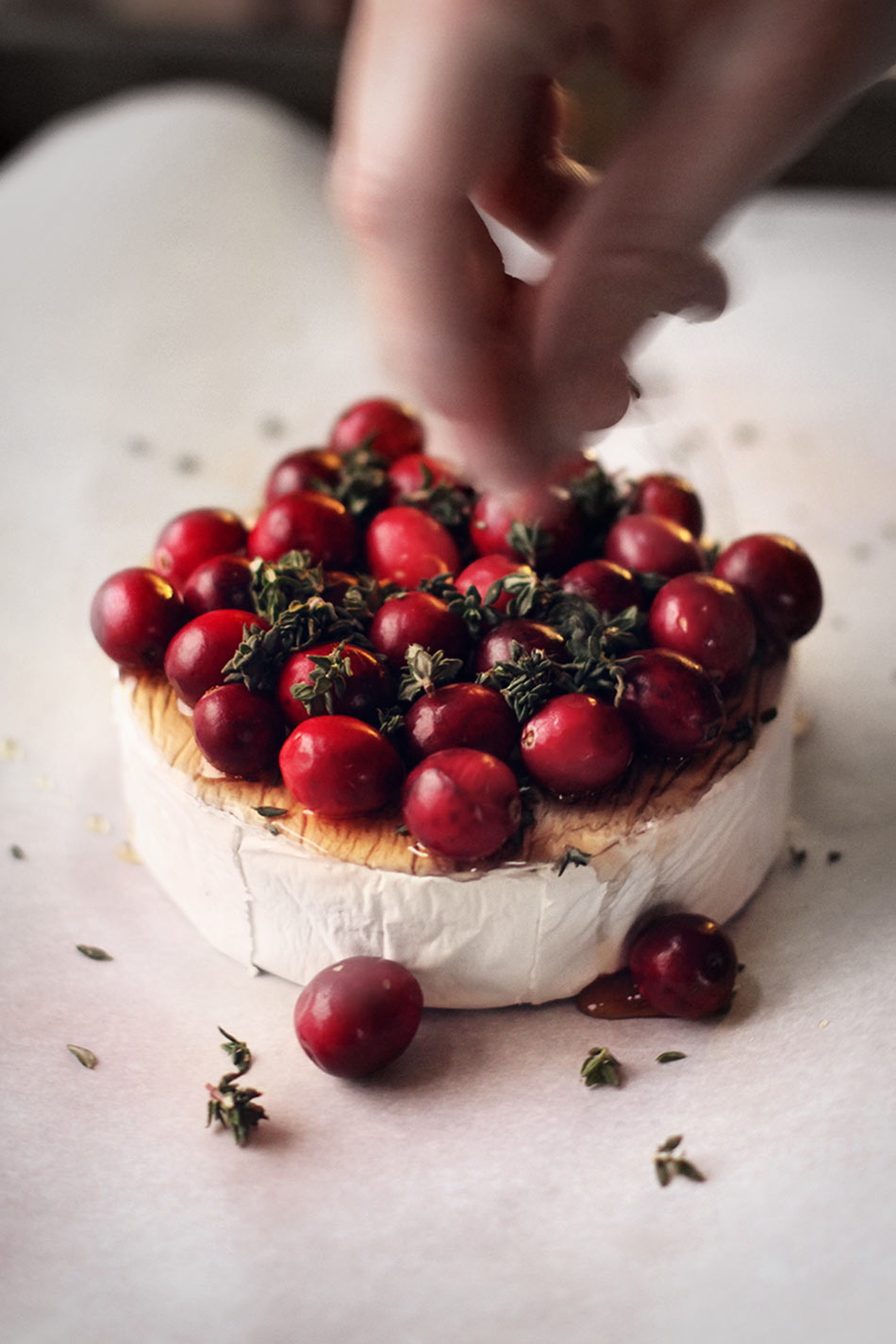 Baked Brie Maple-Roasted Cranberry