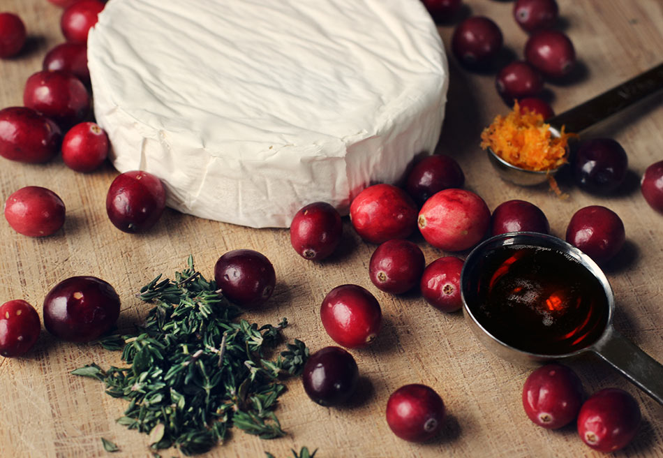 Baked Brie with Maple-Roasted Cranberries - Ingredients