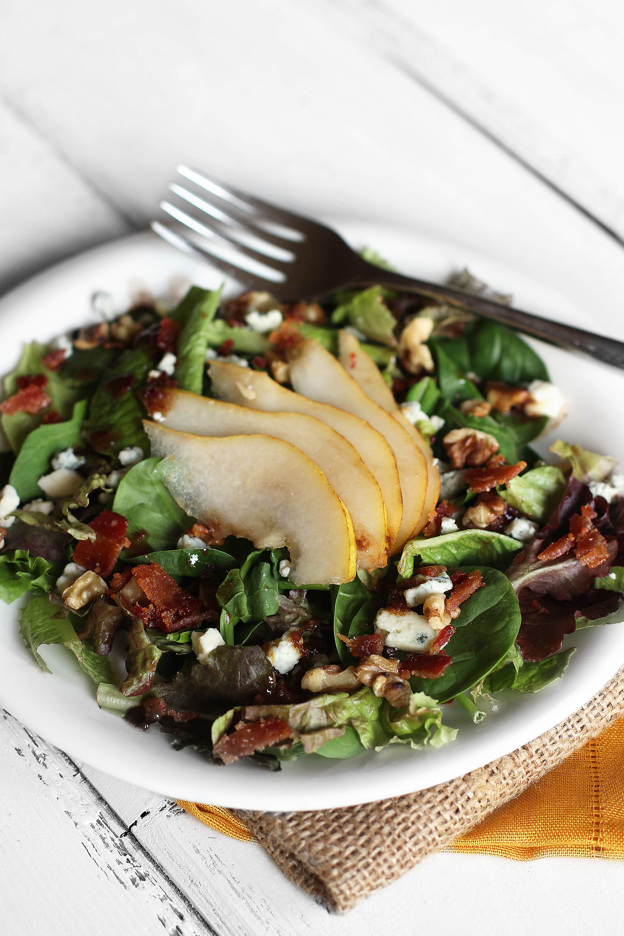 Pear Salad with Maple Bacon, Gargonzola, Toasted Nuts - Plus Homemade ...