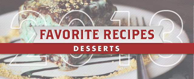 Favorite Recipes of 2013  - DESSERTS