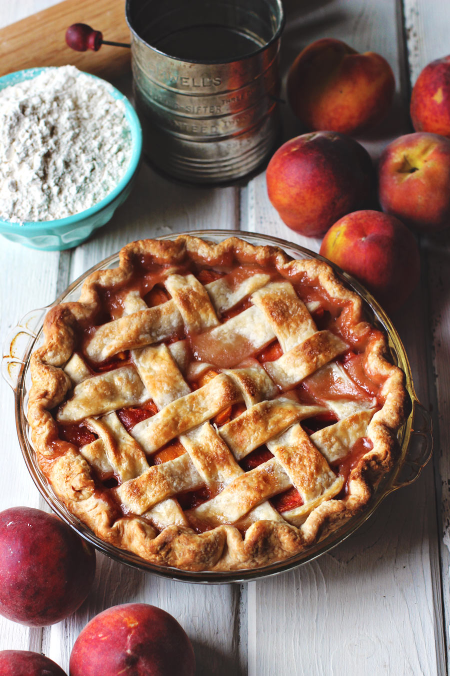 Peach Pie Lattice