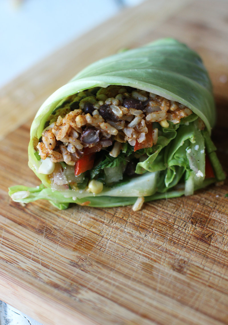 Cabbage-Leaf-Tacos with Fresh Chopped Salsa