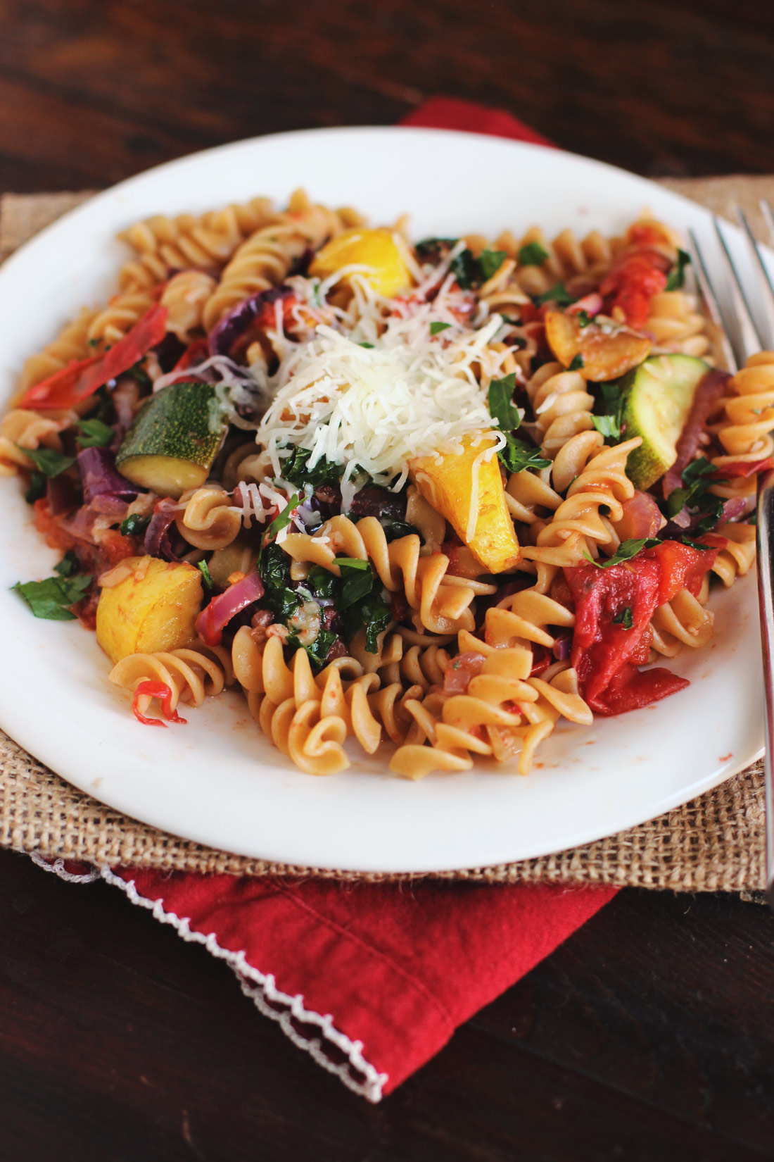Roasted Tomato & Summer Squash Pasta