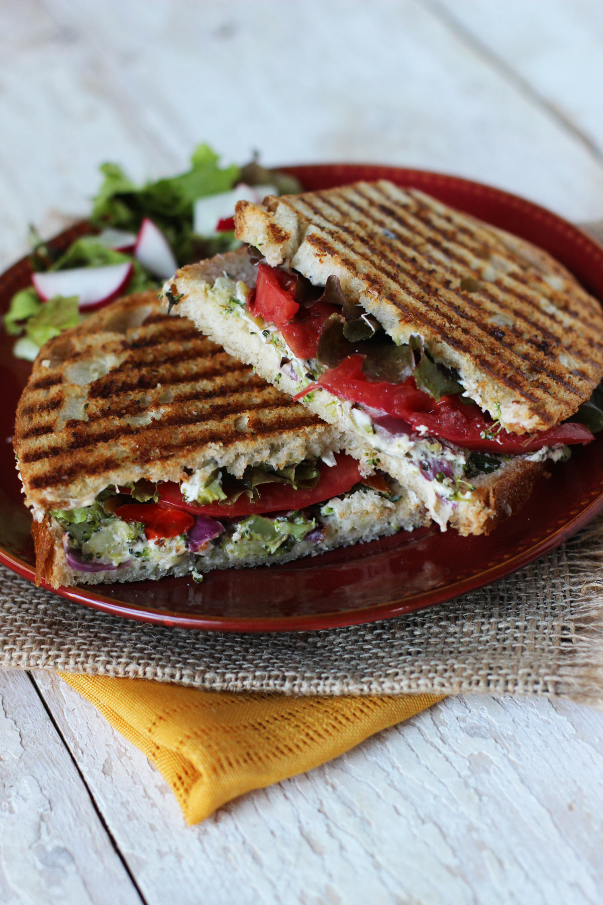 Roasted Vegetable & Herbed Goat Cheese Paninis | Carpé Season
