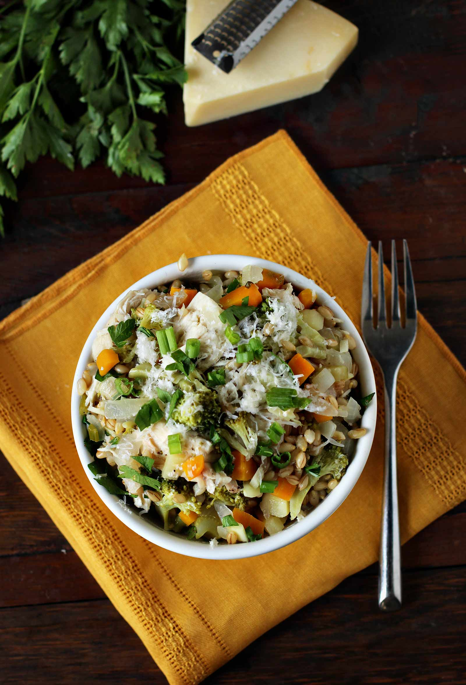 Barley-Pilaf-with-Fall-Vegetables-&-Chicken