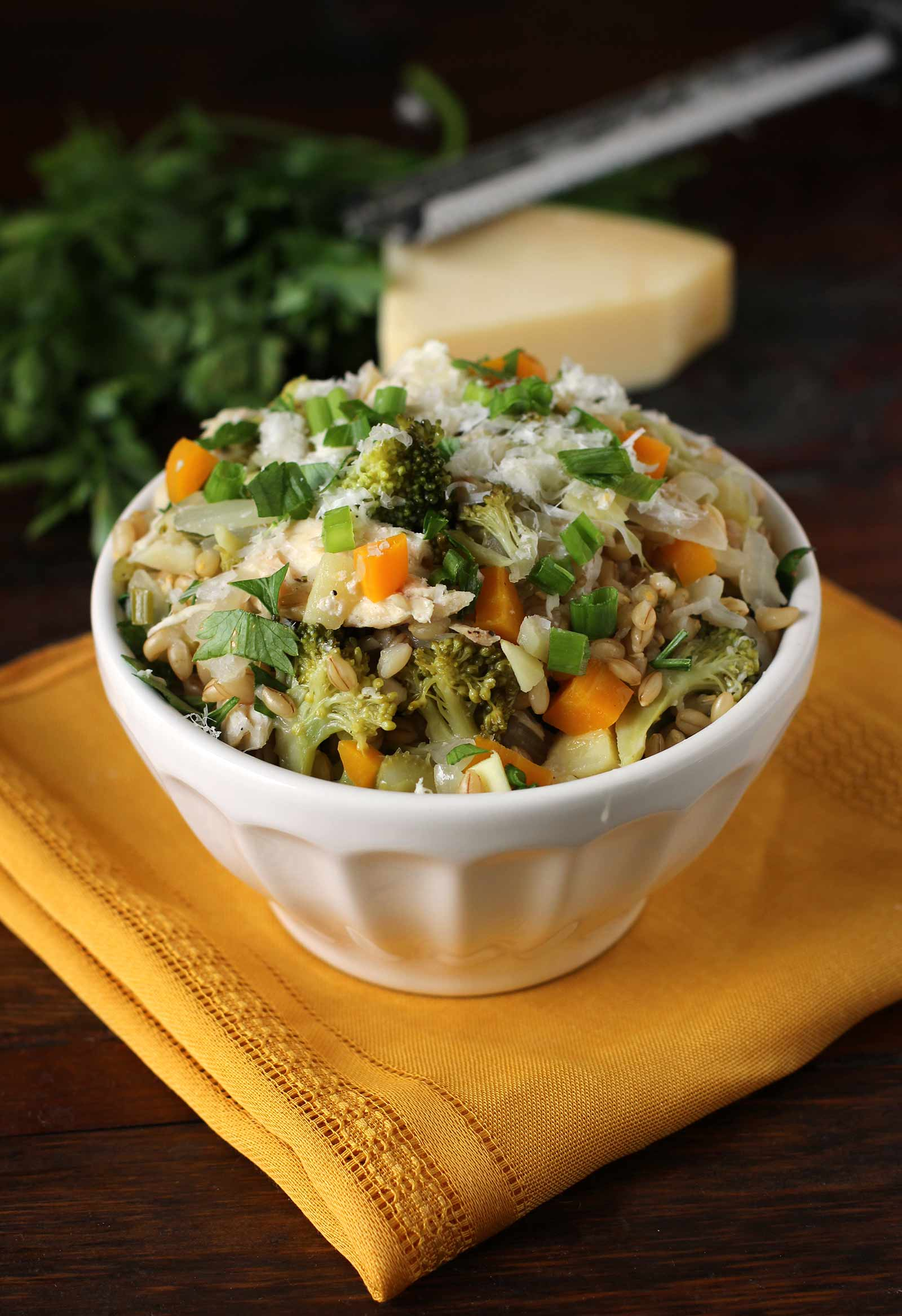 Barley Pilaf with Fall Vegetables & Chicken