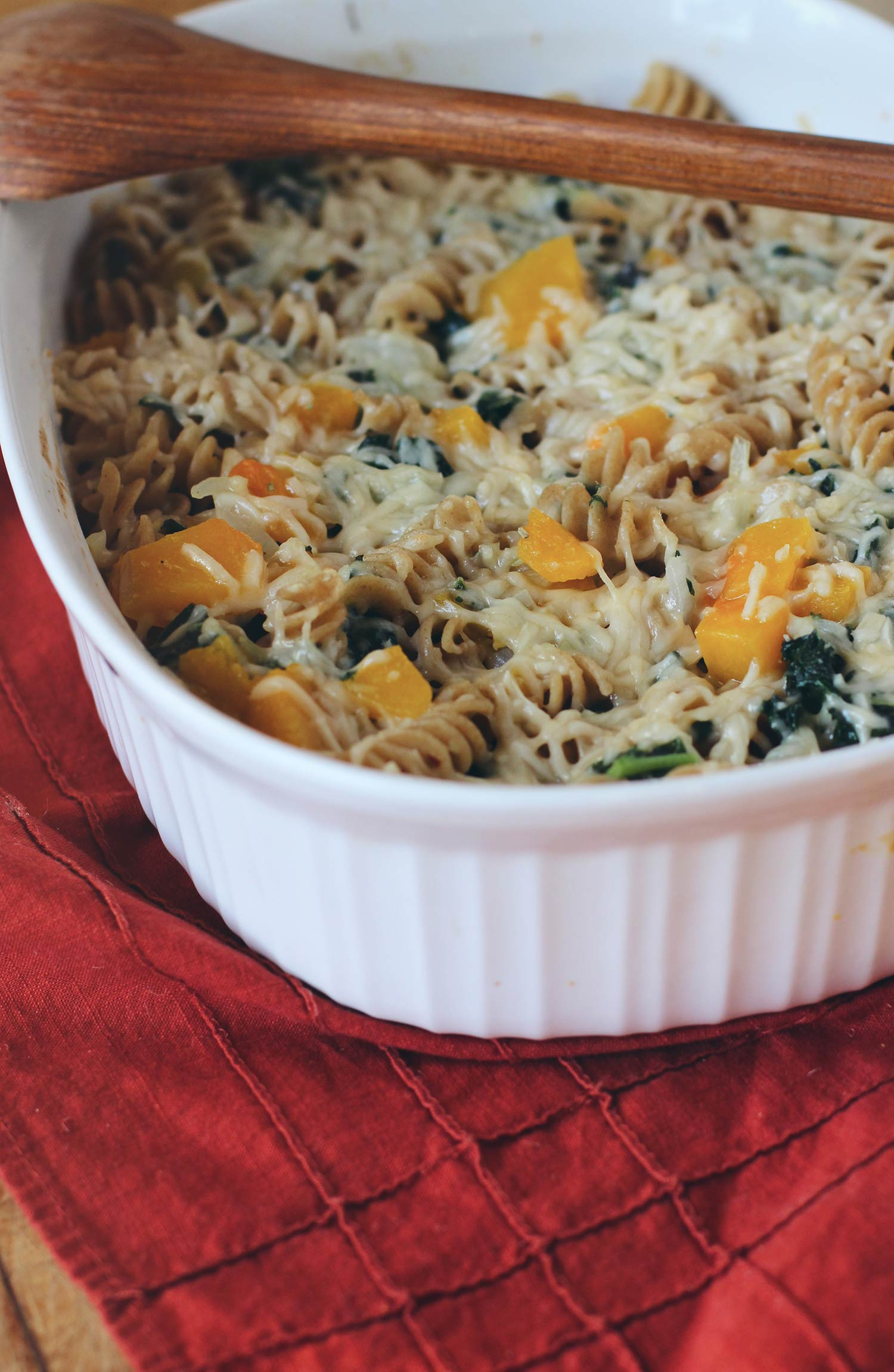 Pasta with Roasted Squash and Kale