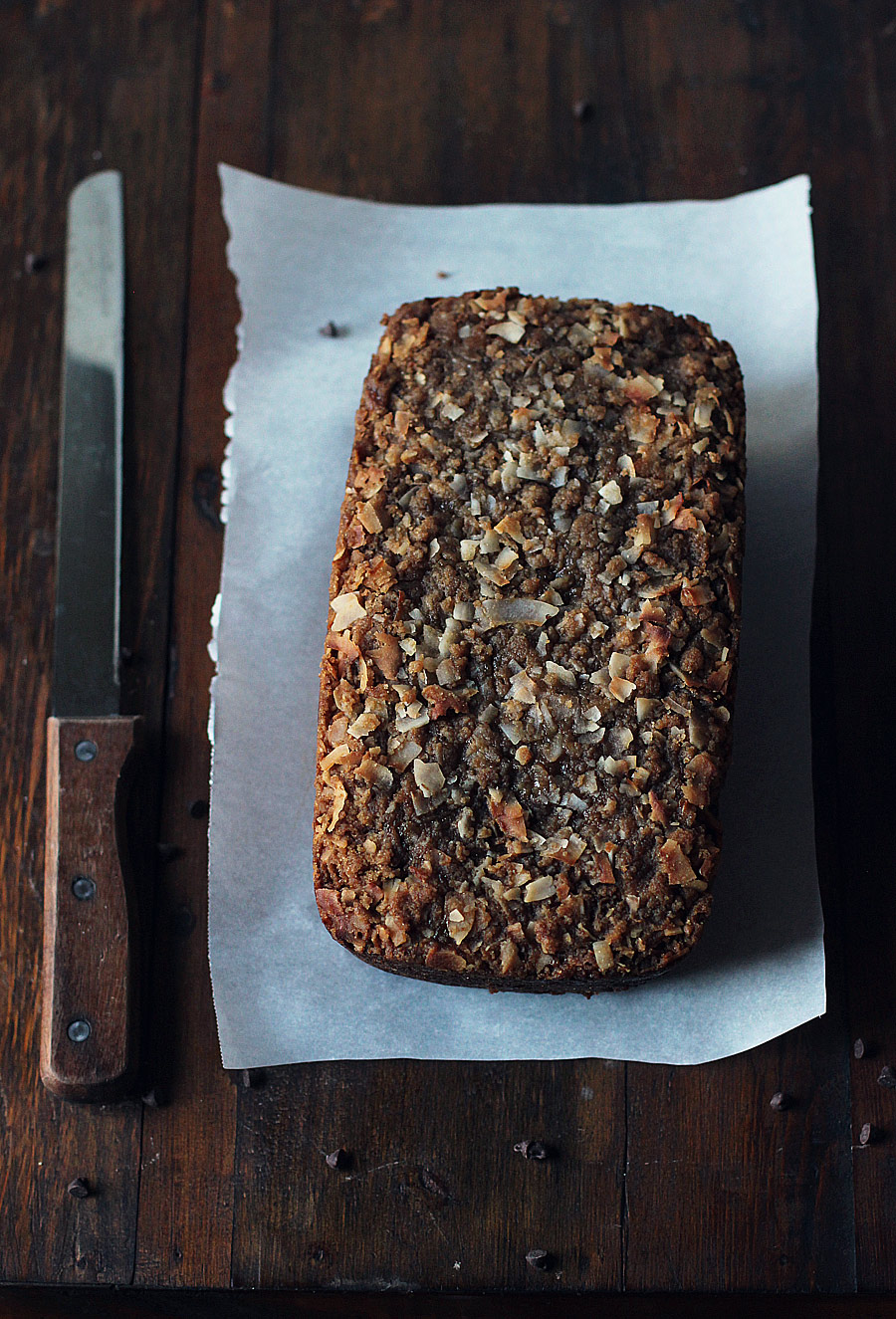 Chocolate Coconut  Zucchini Bread